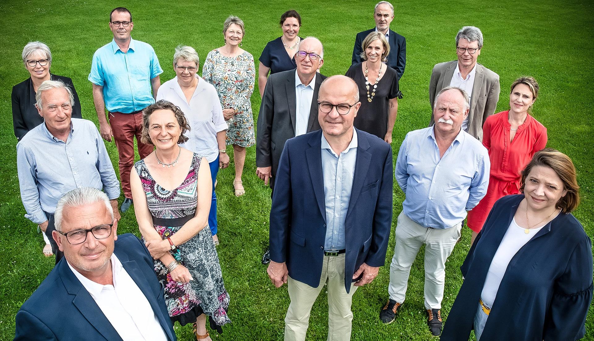 Photo groupe, élus 2020 de la communauté d'Auray